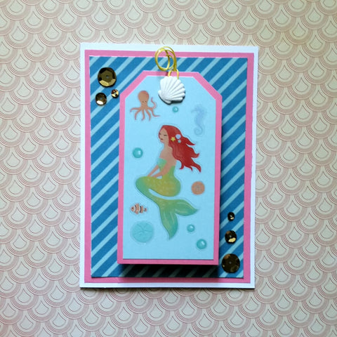mermaid greeting cards