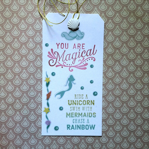 mermaid gift tag