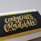 graduation card - gold congrats