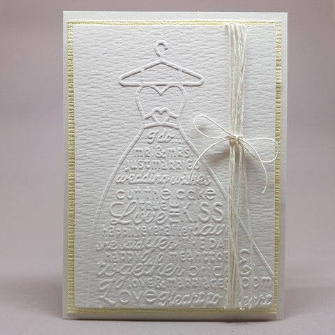 wedding card - embossed dress