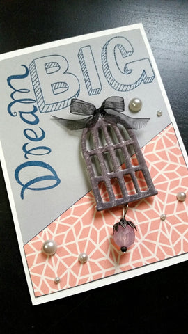 greeting card - bird cage dream