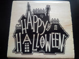Halloween greeting card - creepy ghost