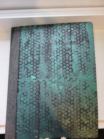composition notebook - green honeycomb