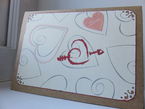 love greeting card - kraft 002