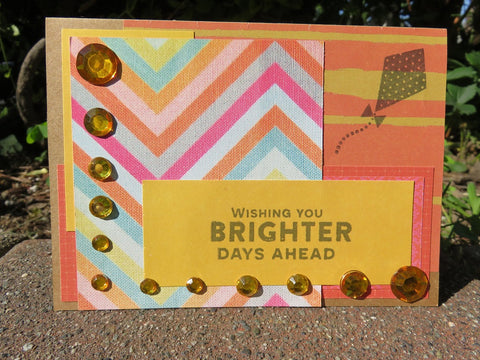 greeting card - Brighter Days sparkle