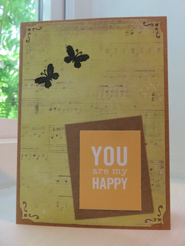 greeting card - You Are My Happy
