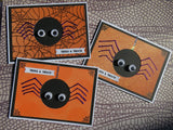 Halloween greeting card - googly eye spider