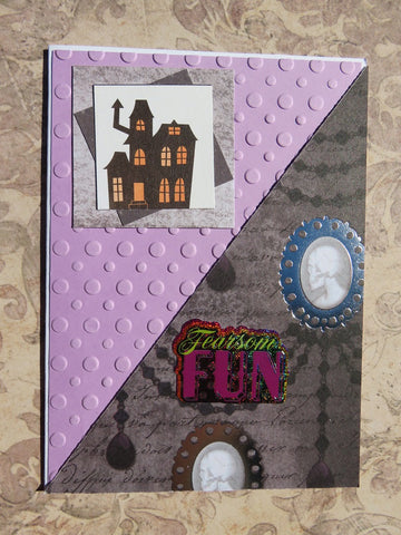 Halloween greeting card - purple 007