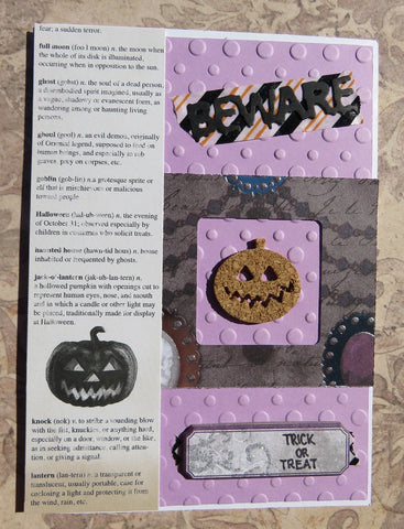 Halloween greeting card - purple 002