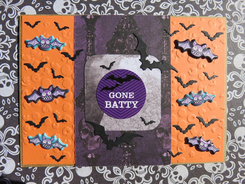 Halloween greeting card - orange 007