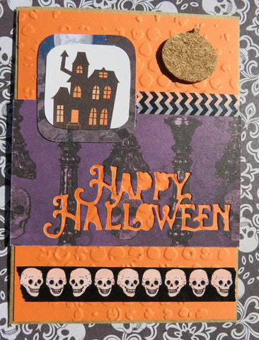 Halloween greeting card - orange 004