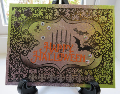 Halloween greeting card - elegant sparkle