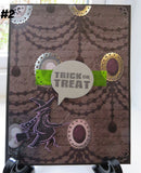 Halloween greeting card - spooky speech bubble witch