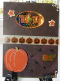 Halloween greeting card - pumpkin stripe