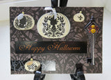 Halloween greeting card - spider key