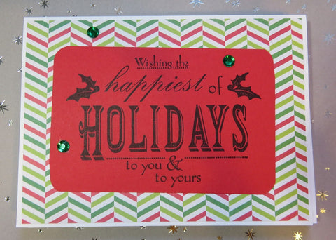 Christmas greeting card set - Happiest of Holidays