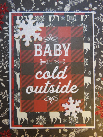 Christmas greeting card - Baby It's Cold Outside