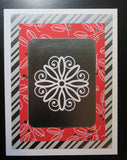 Christmas greeting card set - red foil