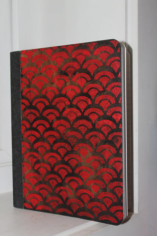 composition notebook - red scallop