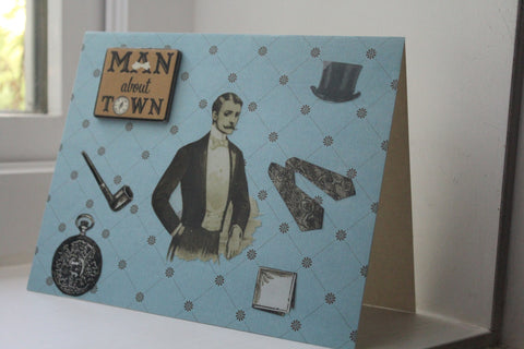 birthday greeting card - Man About Town