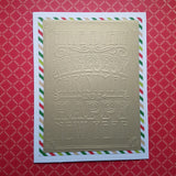 Christmas greeting card set - gold embossed greeting