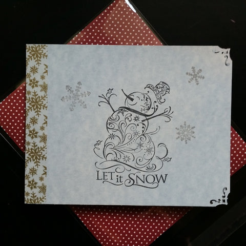 Christmas gift card holder - snowman