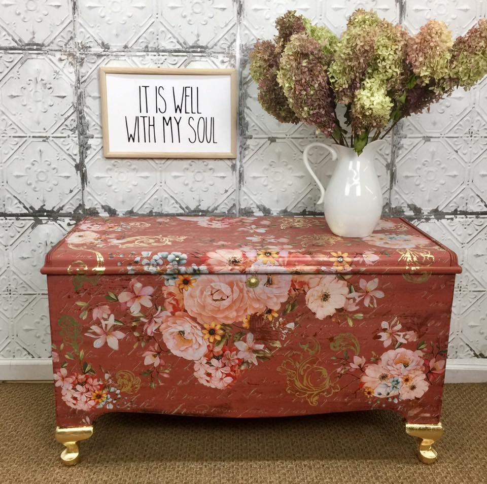 Milk Painted Trunk by Refurbished in the Middle