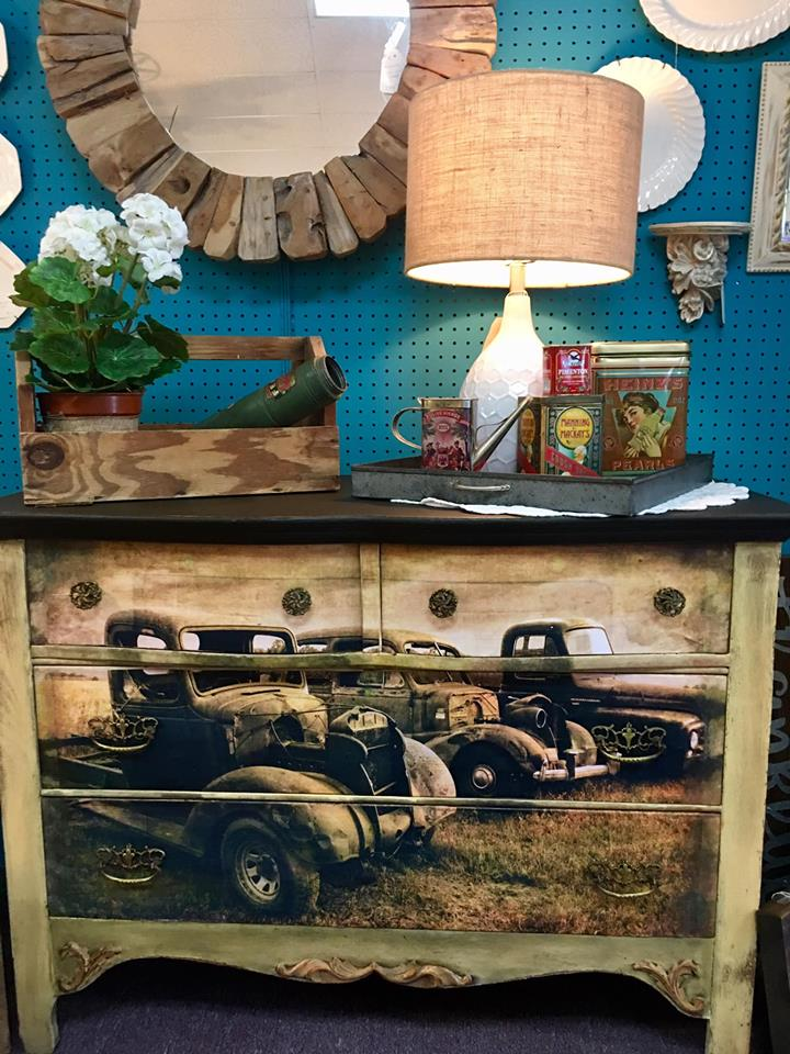 Junkyard Goddess Milk Paint Trunk by Vintage Market Mall & Salvage in Fort Myers, Florida