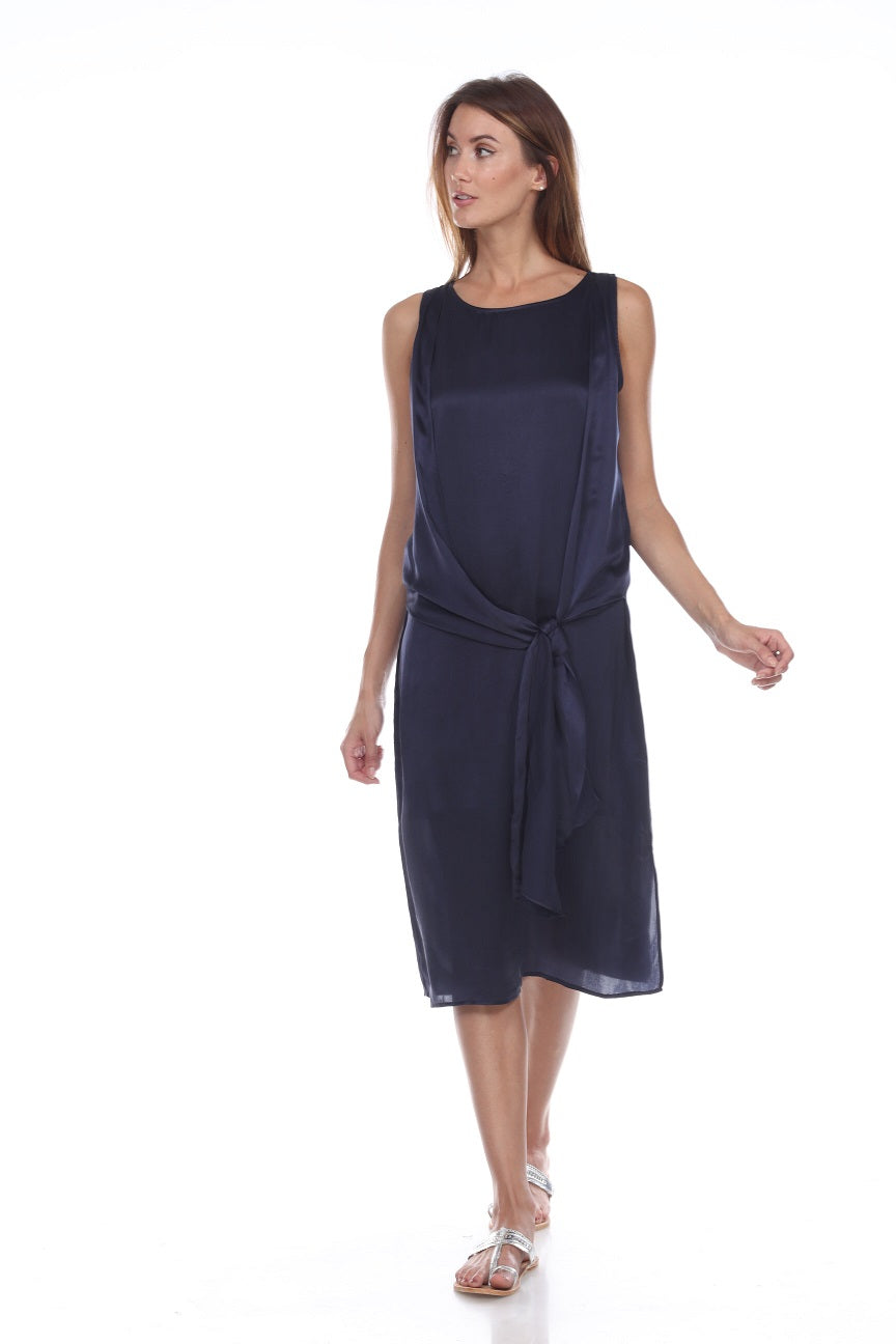 Wrap Tank Dress in Silk