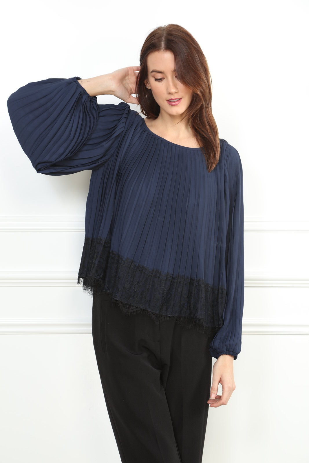 Lace Pleat Blouse