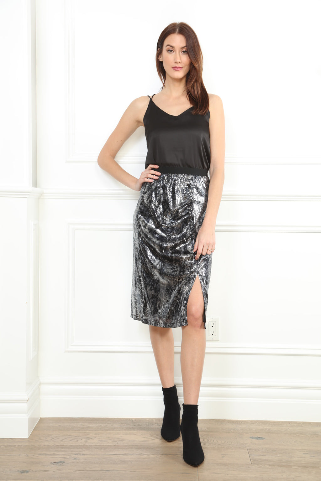 Snake Sequin Skirt