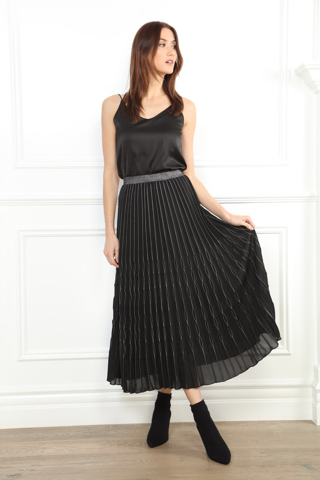 Loop Pleat Skirt