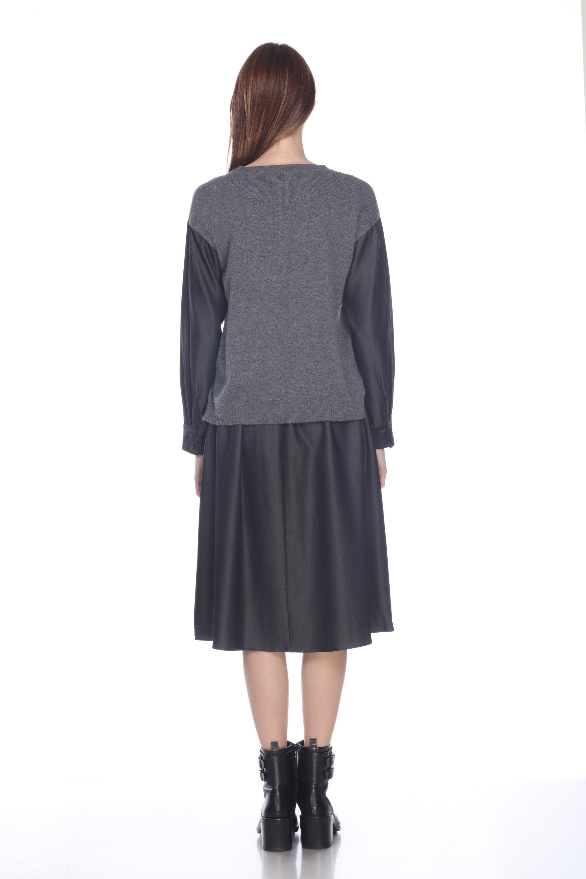 Pullover Tencel Sleeve Sweater