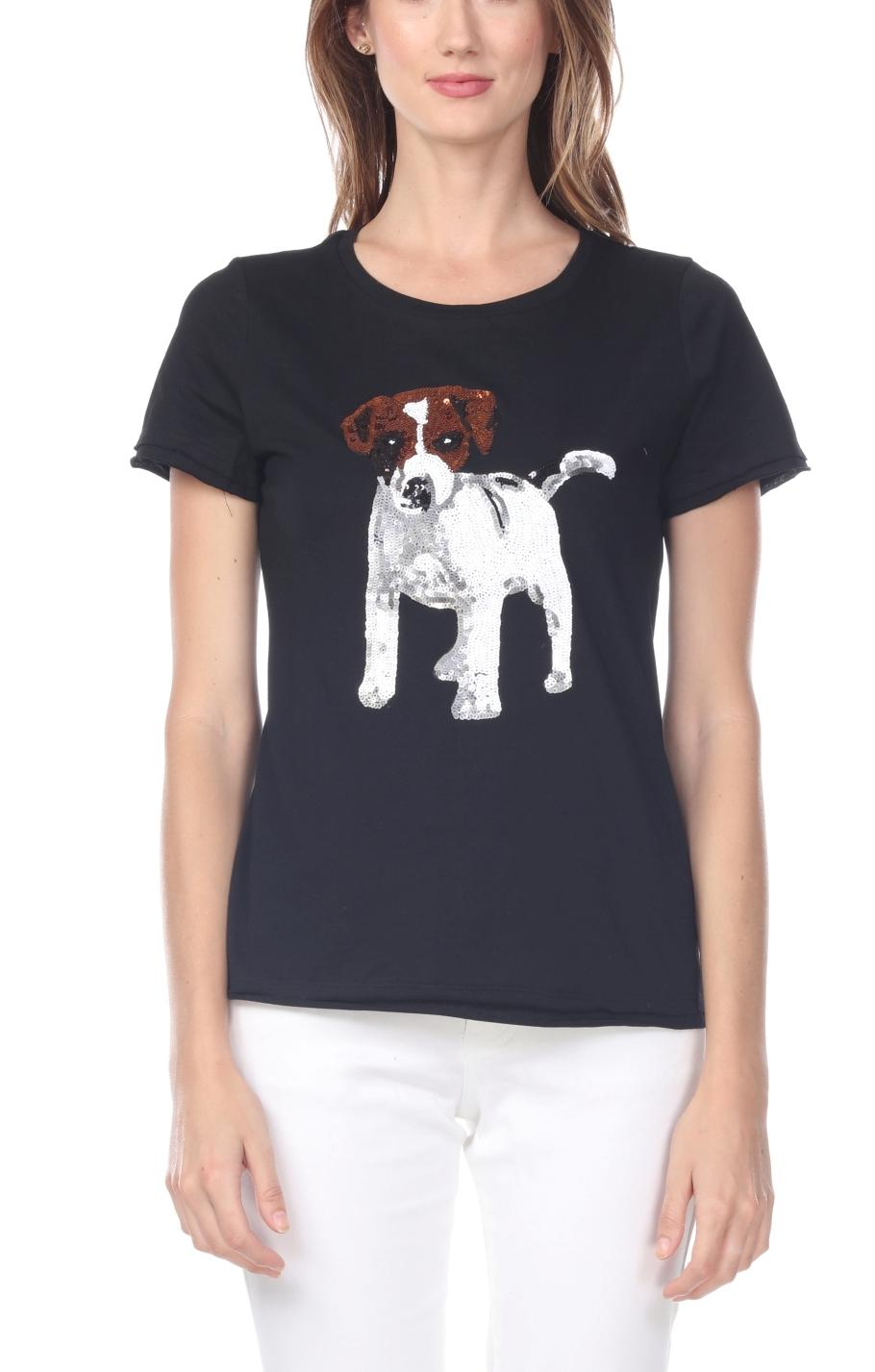 Jack Russell Sequin T-Shirt