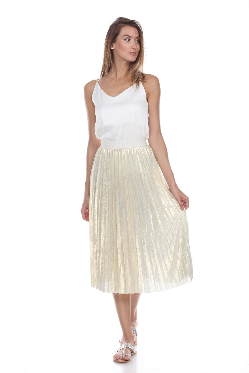 Liquid Metallic Skirt