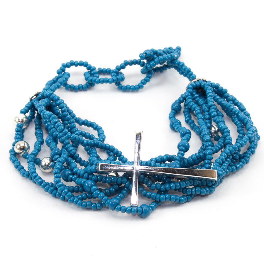Ana Lu Bracelet with Cross