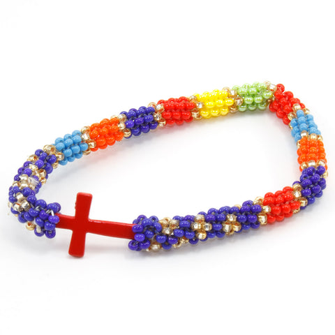 Faith Metal Cross Bracelet
