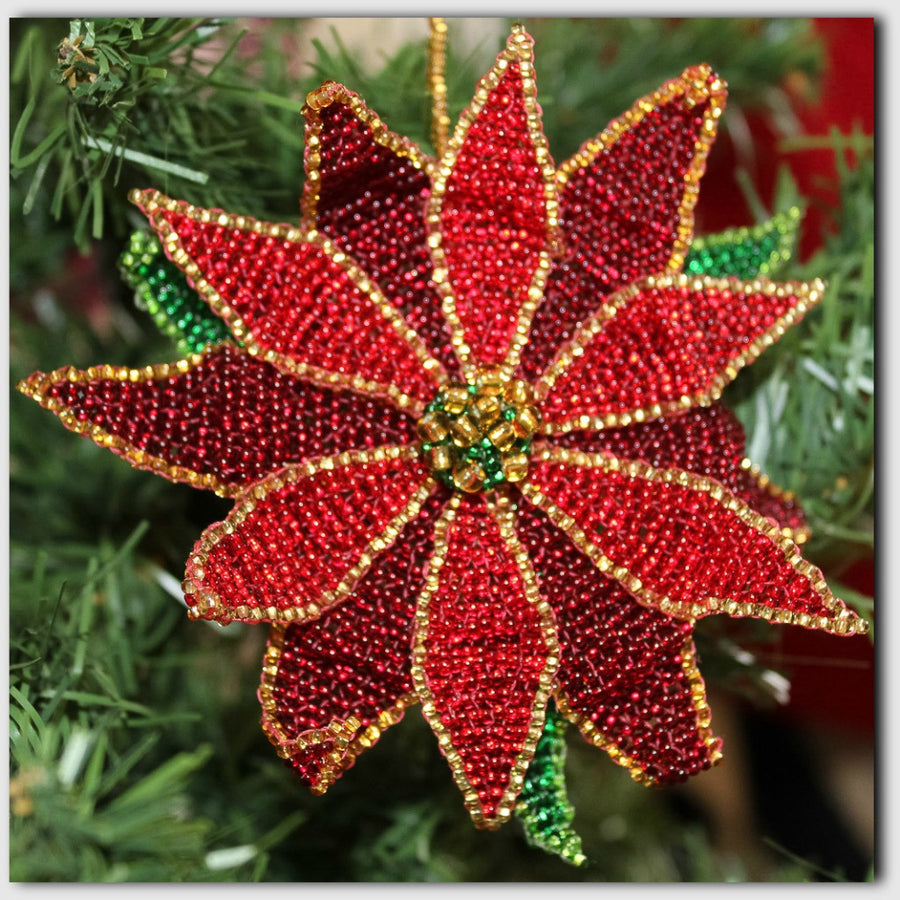Poinsettia Ornament - WOMEN OF HOPE