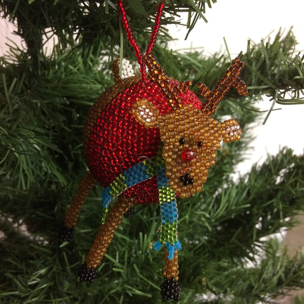 Rudolph Ball Ornament - WOMEN OF HOPE