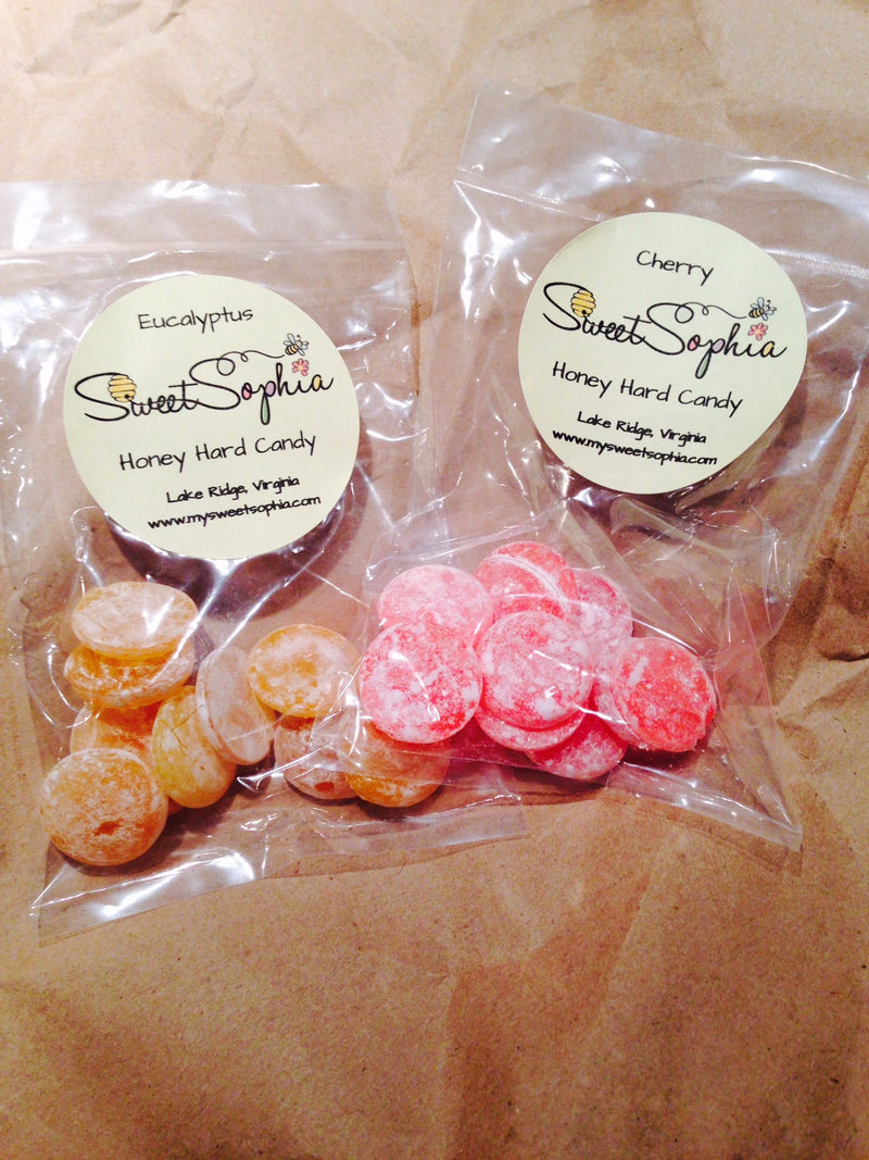 Hard Honey Candies in Many Flavors