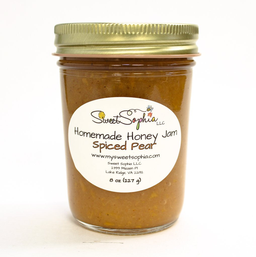 Homemade Honey Jam - Spiced Pear