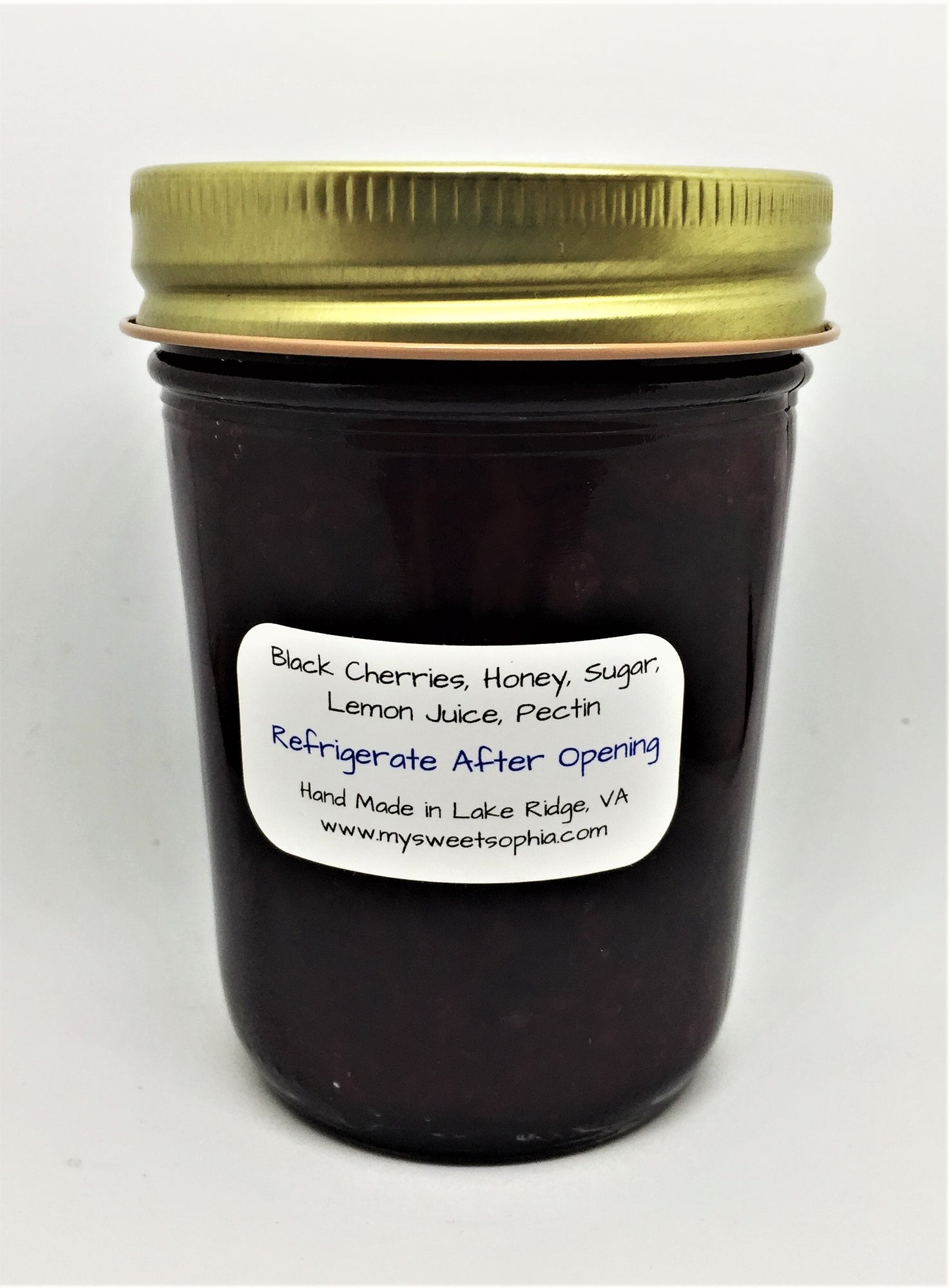 Homemade Honey Jam - Black Cherry