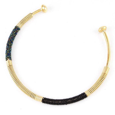 Ayo Beaded African Tribal Choker - Luxe Lion