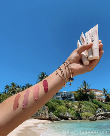 tianahannemann showing the best tinted lip treatment by Hanalei Company