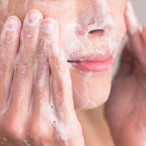 Wash your face daily to prevent maskne with Hanalei Company powder face wash