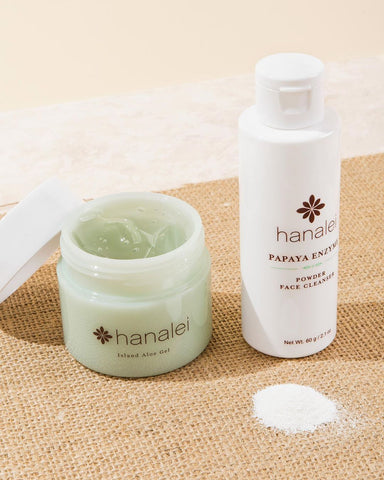 Hanalei Company Island Aloe Gel and Papaya Enzyme Powder Face Cleanser contain Noni superfruit