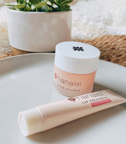 Hanalei Company Sugar Lip Scrub and Kukui Oil Lip treatment