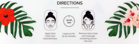 Hanalei Company Sheet Mask Directions