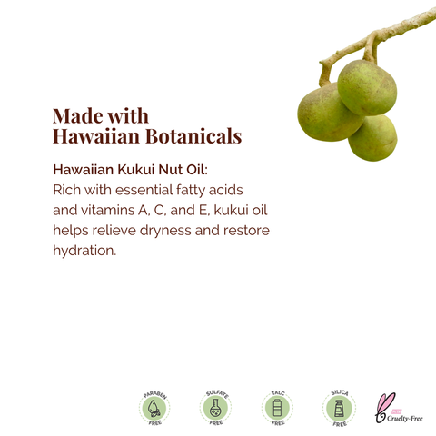 Lip Products made with kukui nut oil by Hanalei