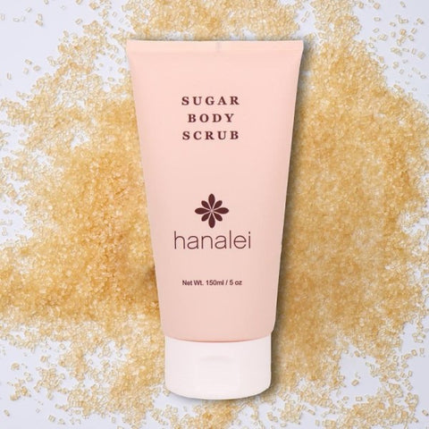 Hanalei Company Sugar Body Scrub used to exfoliate before self-tanning